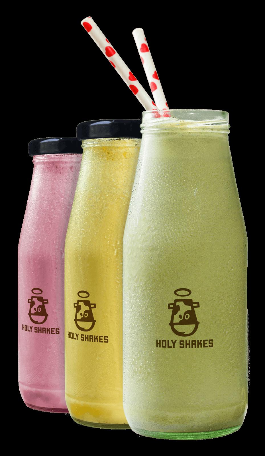 Toronto's Best Gourmet Fusion Milkshakes & Live Milkshake Catering - Strawberry Banana Pistachio Milkshake Bottle